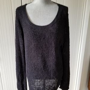 Black H&M open knit long sweater